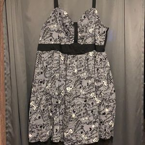 DISNEY SNOW WHITE DOODLE SWING DRESS